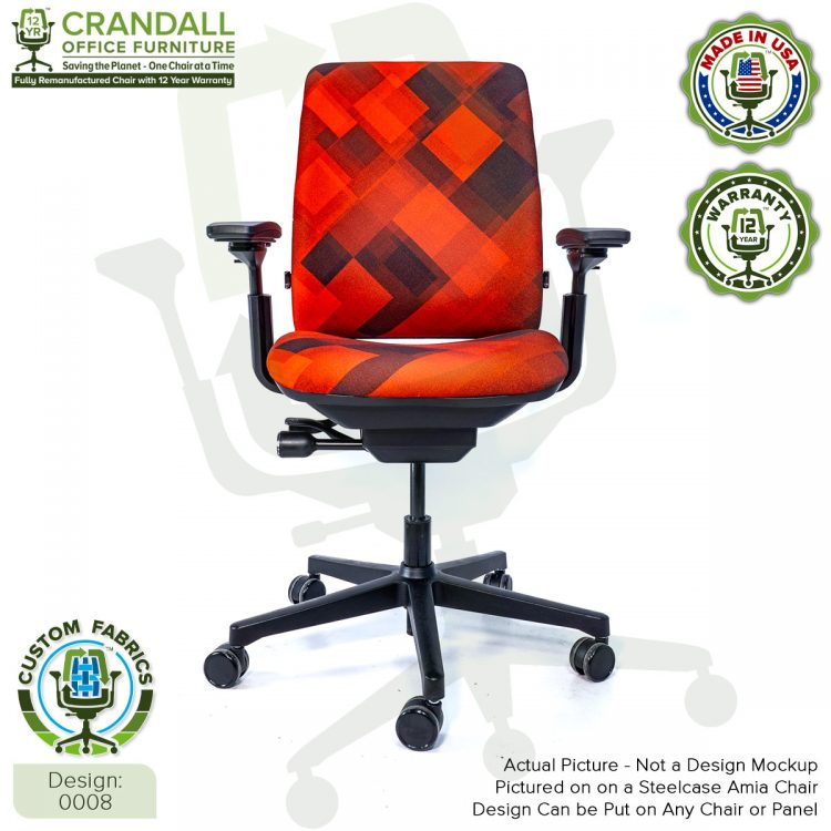 Custom Fabric Remanufactured Steelcase Amia Chair - Design 0008