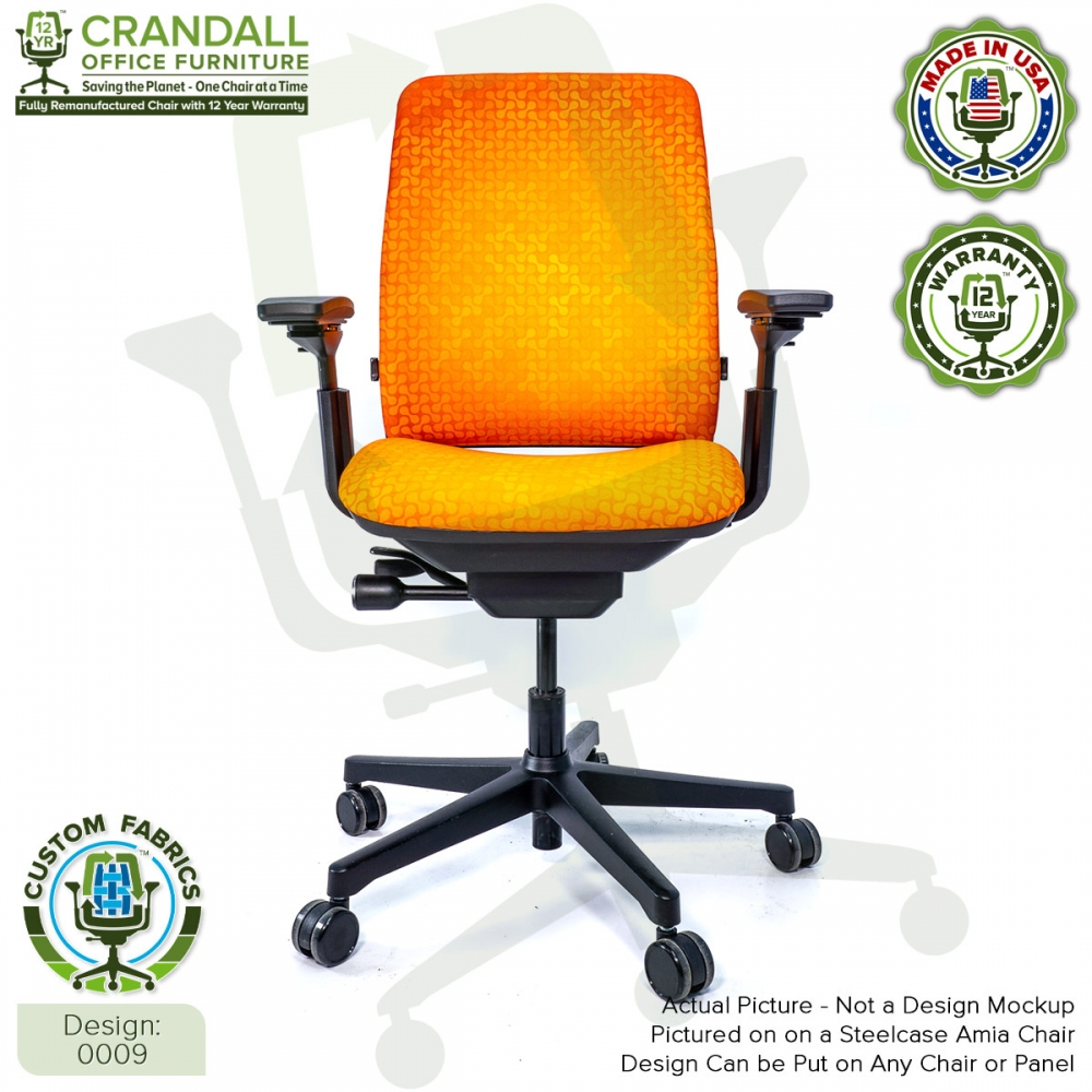 Custom Fabric Remanufactured Steelcase Amia Chair - Design 0009