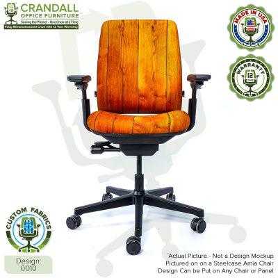 Custom Fabric Remanufactured Steelcase Amia Chair - Design 0010