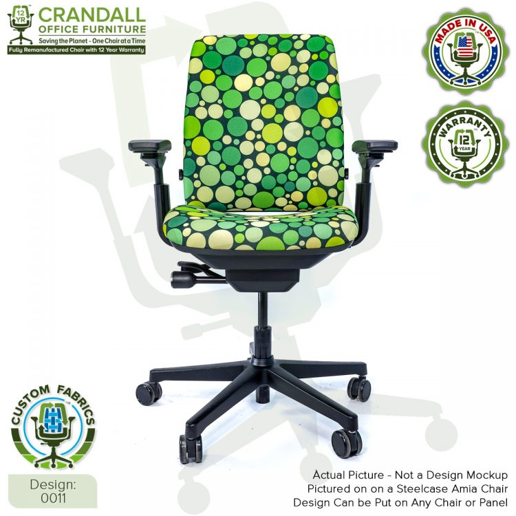 Custom Fabric Remanufactured Steelcase Amia Chair - Design 0011
