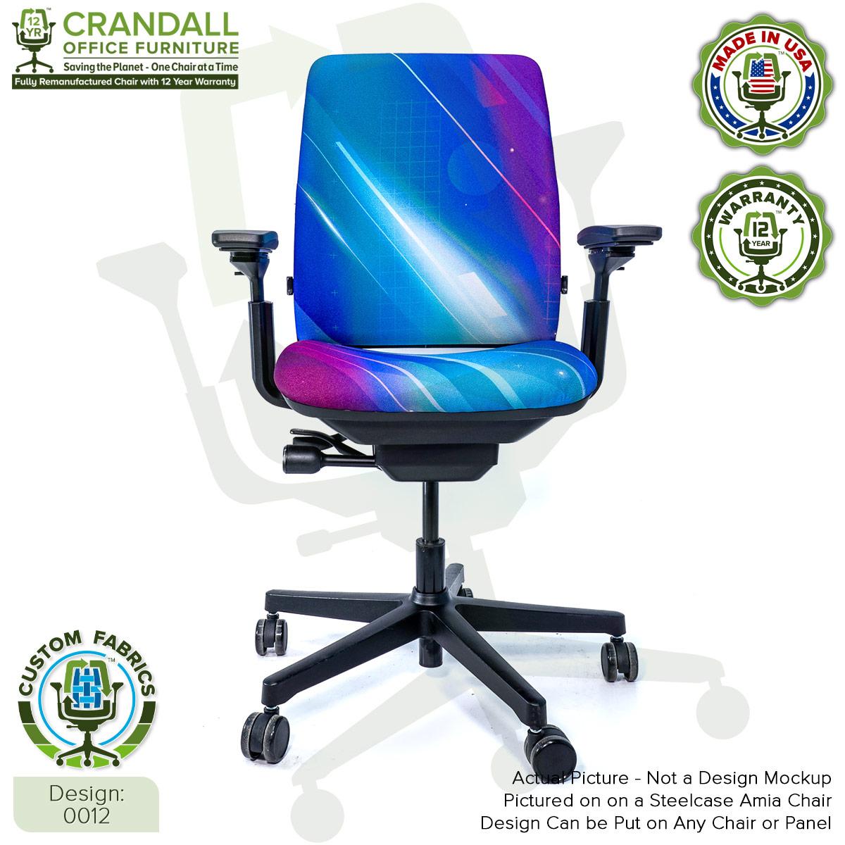 Custom Fabric Remanufactured Steelcase Amia Chair - Design 0012