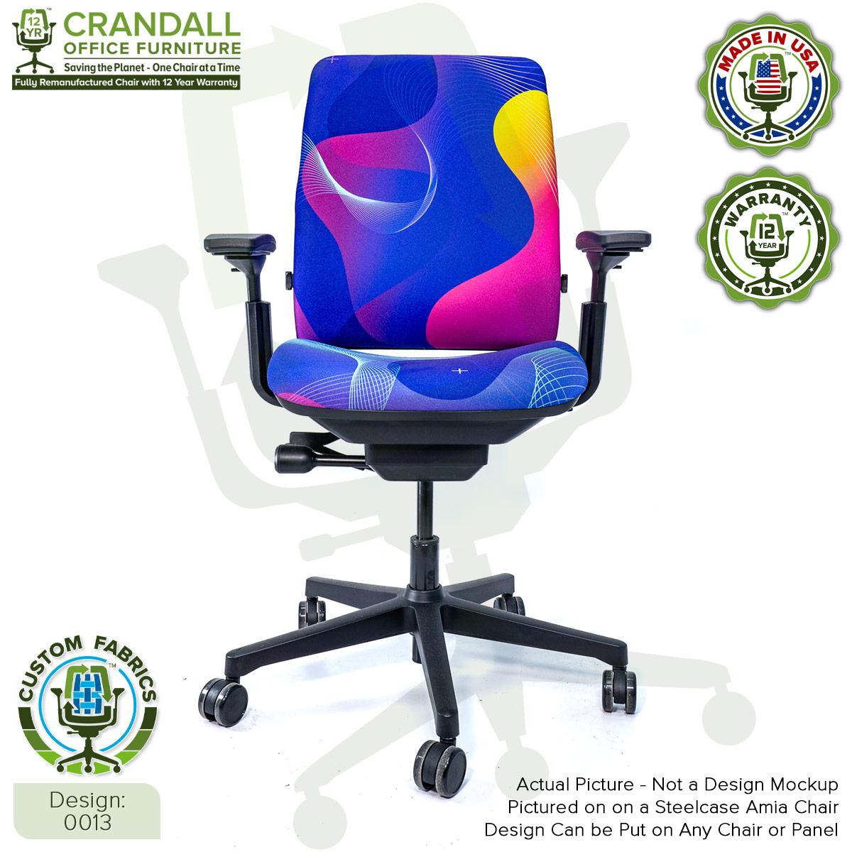 Custom Fabric Remanufactured Steelcase Amia Chair - Design 0013