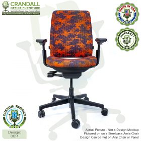 Custom Fabric Remanufactured Steelcase Amia Chair - Design 0014