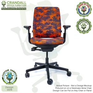 Custom Fabric Remanufactured Steelcase Amia Chair - Design 0014