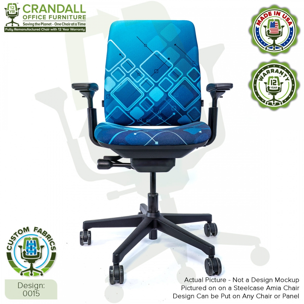 Custom Fabric Remanufactured Steelcase Amia Chair - Design 0015