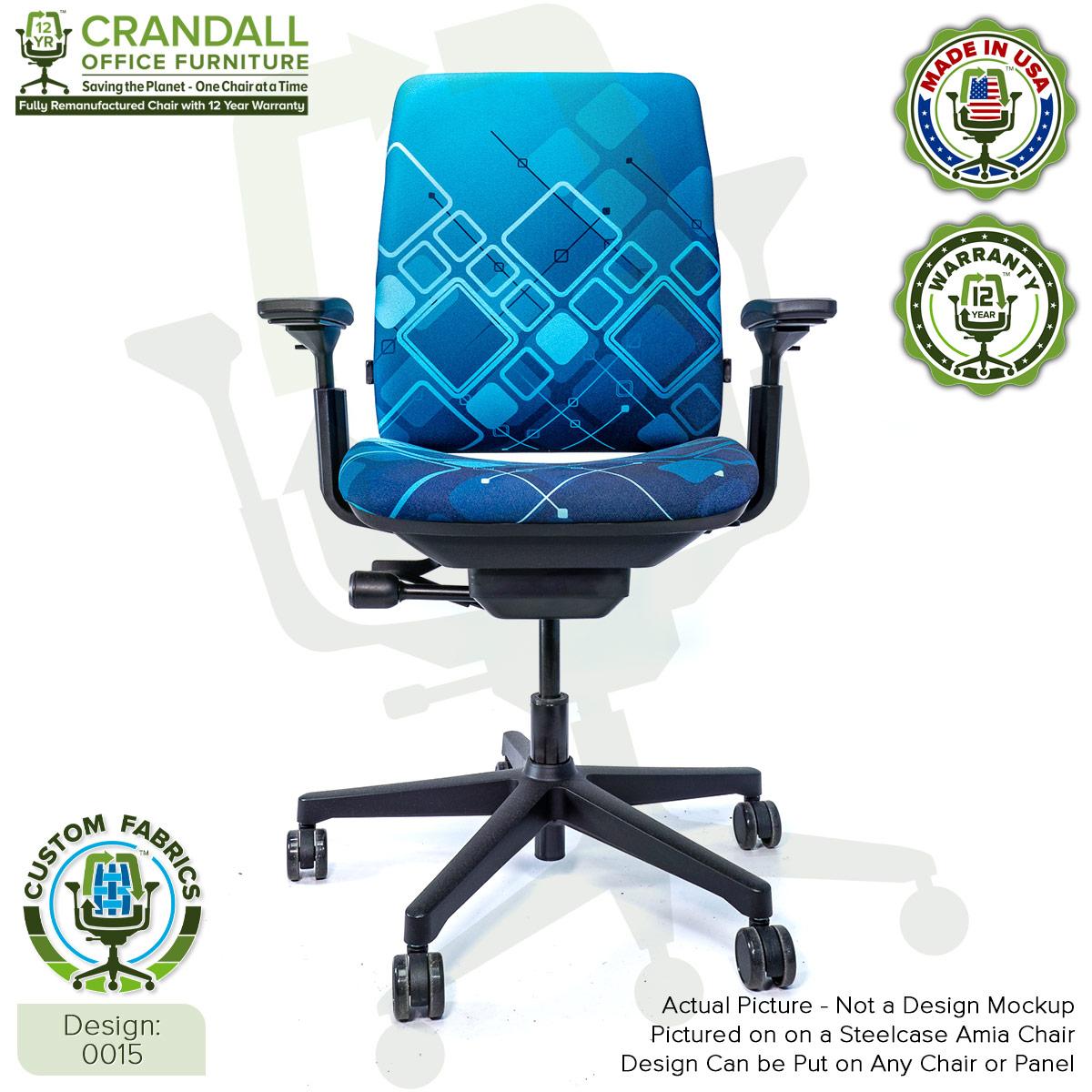 Custom Fabric Remanufactured Steelcase Amia Chair - Design 0015