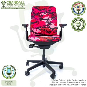 Custom Fabric Remanufactured Steelcase Amia Chair - Design 0016