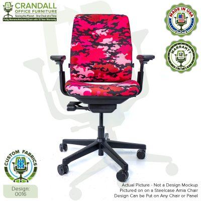 Custom Fabric Remanufactured Steelcase Amia Chair - Design 0016