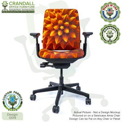 Custom Fabric Remanufactured Steelcase Amia Chair - Design 0019