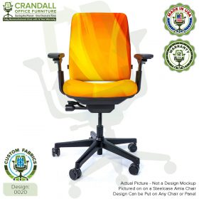 Custom Fabric Remanufactured Steelcase Amia Chair - Design 0020