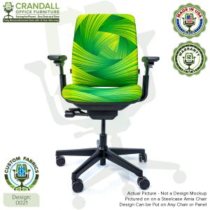 Custom Fabric Remanufactured Steelcase Amia Chair - Design 0021