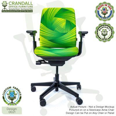 Custom Fabric Remanufactured Steelcase Amia Chair - Design 0021