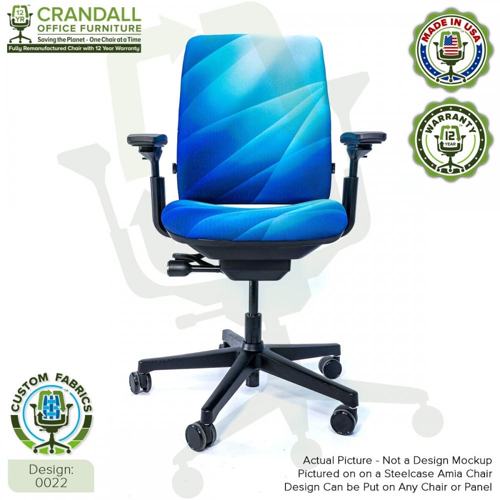 Custom Fabric Remanufactured Steelcase Amia Chair - Design 0022