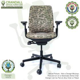 Custom Fabric Remanufactured Steelcase Amia Chair - Design 0023