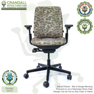 Custom Fabric Remanufactured Steelcase Amia Chair - Design 0023