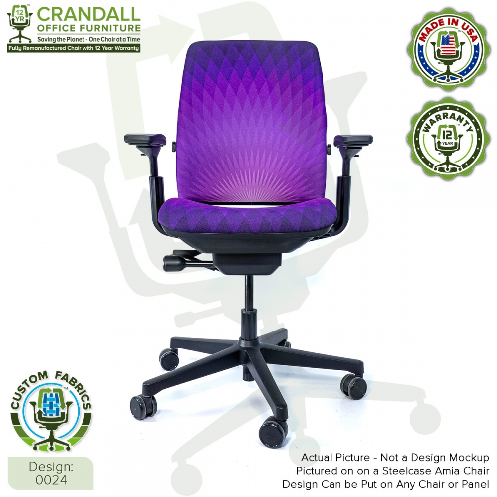 Custom Fabric Remanufactured Steelcase Amia Chair - Design 0024