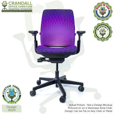 Custom Fabric Remanufactured Steelcase Amia Chair - Design 0024
