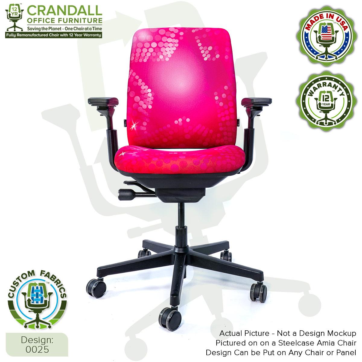 Custom Fabric Remanufactured Steelcase Amia Chair - Design 0025