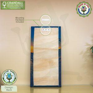Crandall Office Custom Fabric Art Acoustic Sound Panels - Back