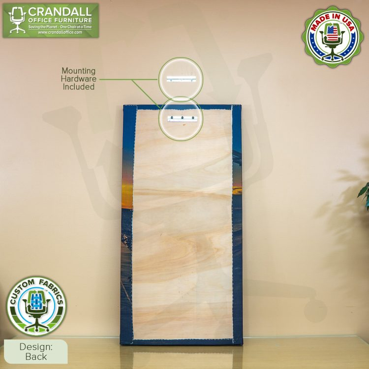Crandall Office Custom Fabric Art Acoustic Sound Panels - Back