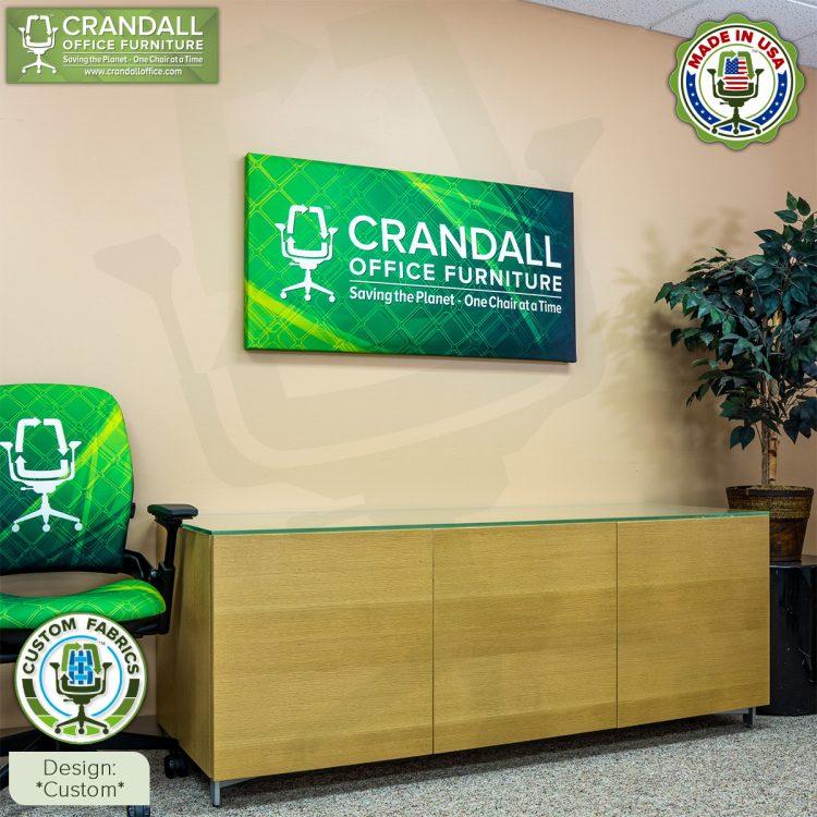 Crandall Office Custom Fabric Art Acoustic Sound Panels - Custom