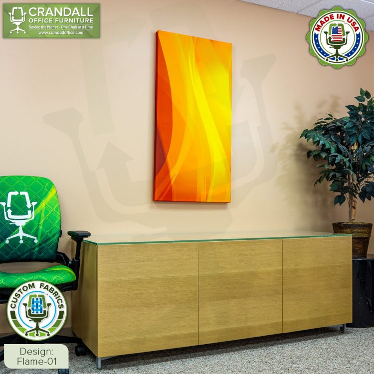 Crandall Office Custom Fabric Art Acoustic Sound Panels - Flame 01