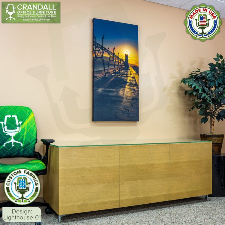Crandall Office Custom Fabric Art Acoustic Sound Panels - Lighthouse