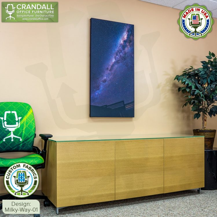 Crandall Office Custom Fabric Art Acoustic Sound Panels - Milky Way