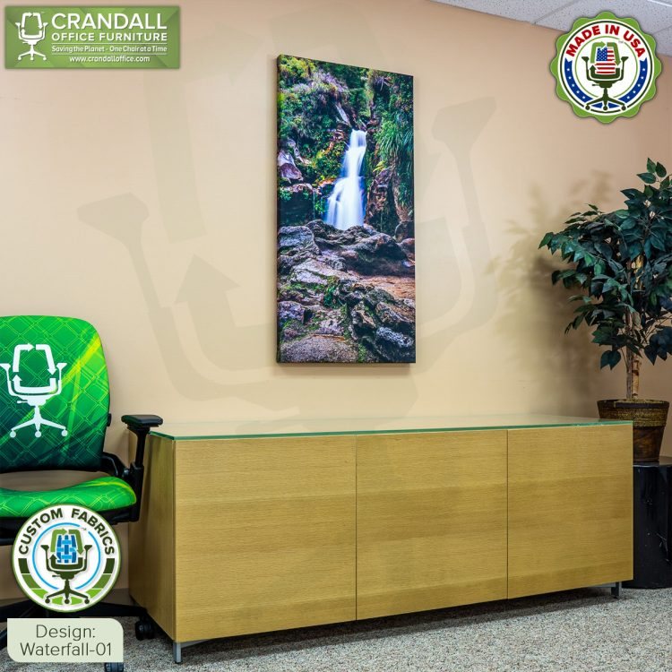 Crandall Office Custom Fabric Art Acoustic Sound Panels - Waterfall