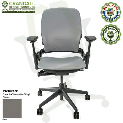 Remanufactured Steelcase V2 Leap - Bleach Cleanable Vinyl - Stone