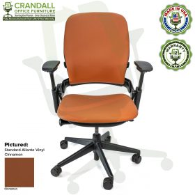 Remanufactured Steelcase V2 Leap - Allante Vinyl - Cinnamon