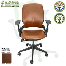 Crandall Office Furniture - V2 Leap Chair - Vintage English Toffee Vinyl