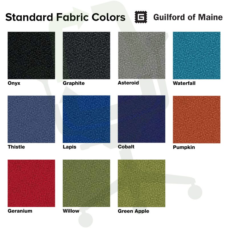 Crandall Office Furniture Standard Fabric Colors
