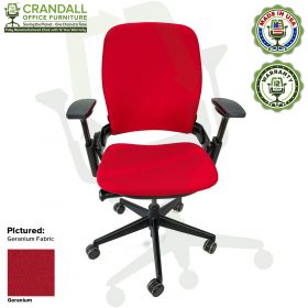 Remanufactured Steelcase V2 Leap - Color Geranium