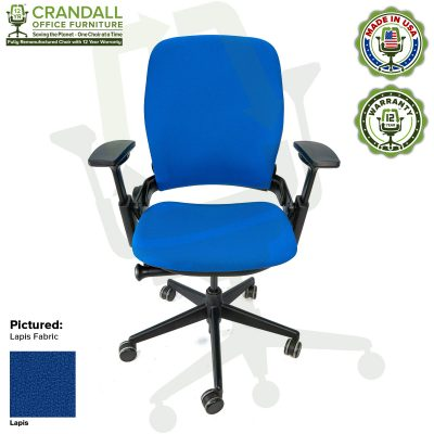 Remanufactured Steelcase V2 Leap - Color Lapis