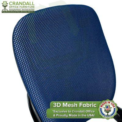 Crandall Office 3D Mesh Fabric Closeup - 02