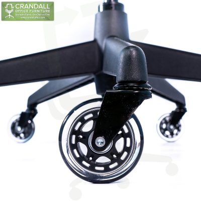 Crandall Office Furniture 75mm / 3 Inch Black Roller Blade Style Casters 001