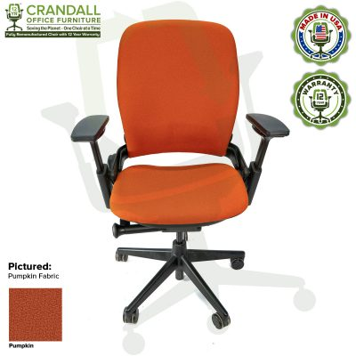 Remanufactured Steelcase V2 Leap - Color Pumpkin