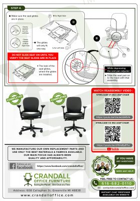 Steelcase V2 Leap Chair Assembly Instructions - Pg2