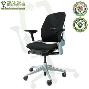 Crandall Office Furniture Remanufactured Steelcase V2 Leap Chair - Platinum Frame 04