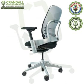 Crandall Office Furniture Remanufactured Steelcase V2 Leap Chair - Platinum Frame 06
