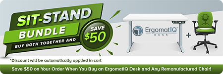 ErgomatIQ Sit-Stand Bundle Small