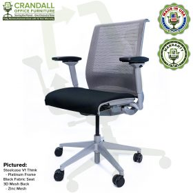 Crandall Office Furniture Remanufactured Steelcase Think Chair with 12 Year Warranty - Platinum Frame - 03