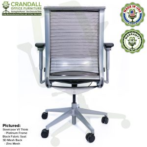 Crandall Office Furniture Remanufactured Steelcase Think Chair with 12 Year Warranty - Platinum Frame - 06