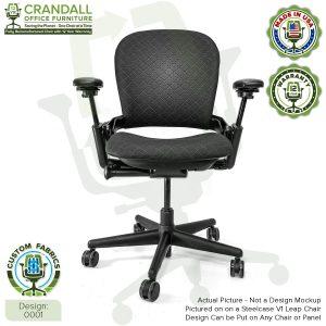 Custom Fabric Steelcase V1 Leap Chair 0001