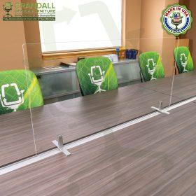 Table Top Free Standing Plexiglass & Acrylic Barrier Brackets 0010