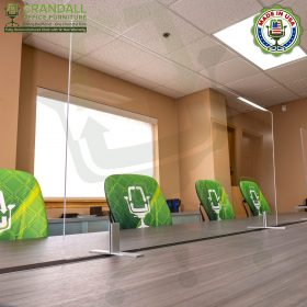 Table Top Free Standing Plexiglass & Acrylic Barrier Brackets 0011