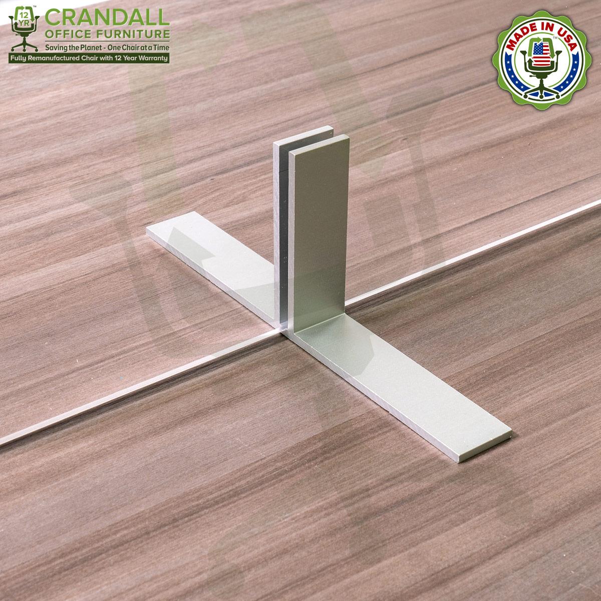 Table Top Free Standing Plexiglass & Acrylic Barrier Brackets 0012