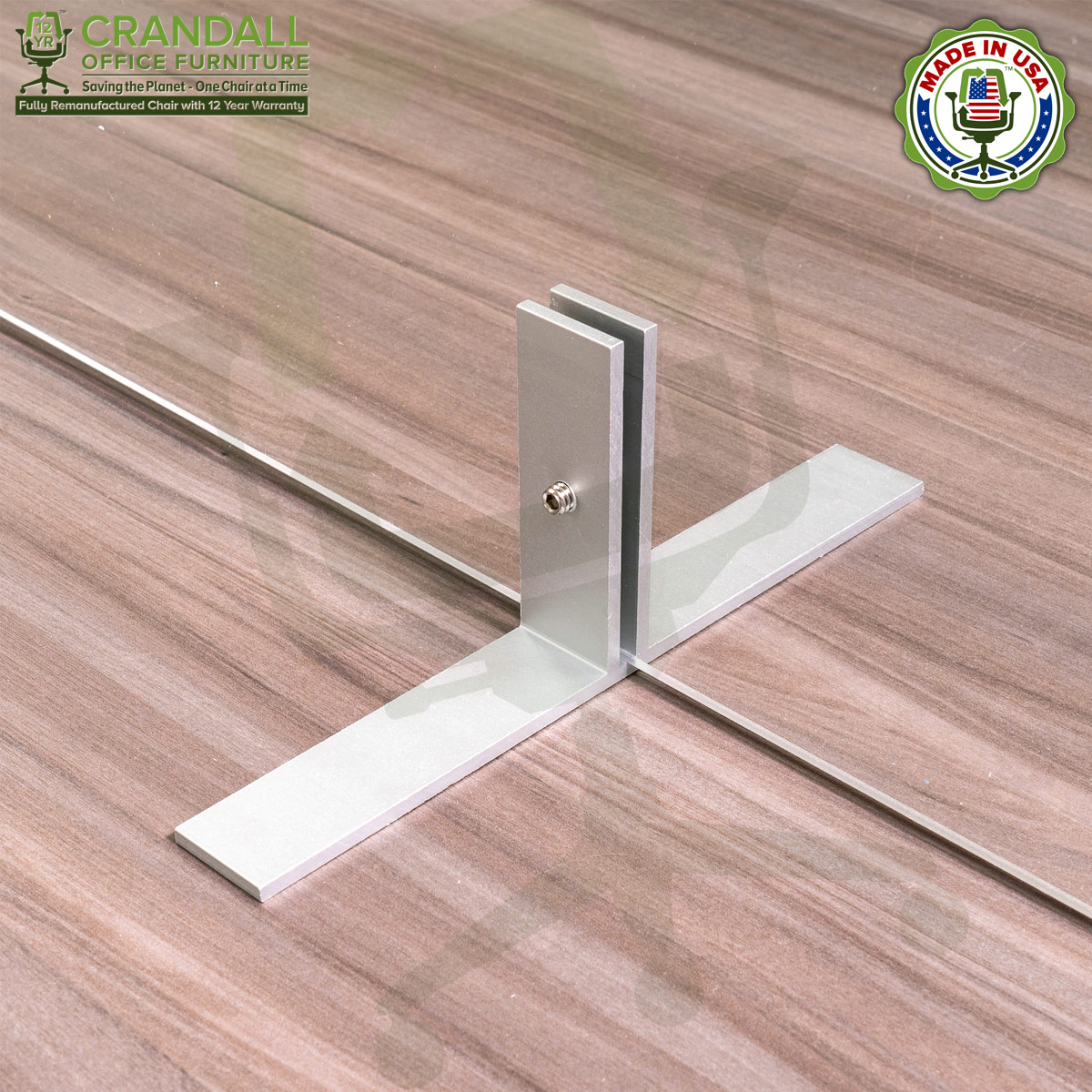 Table Top Free Standing Plexiglass & Acrylic Barrier Brackets 0013