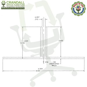 Table Top Free Standing Plexiglass & Acrylic Barrier Brackets Drawing